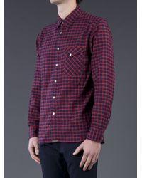 Billy Reid Red Gilbert Button Down Shirt for men