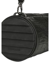 Camilla Skovgaard Black Croc Embossed Leather Bag