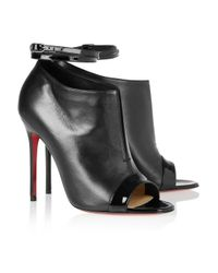 Christian Louboutin | Black Diptic 100 Leather Ankle Boots | Lyst