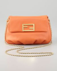 Fendi Orange Fendista Pouchette Cross-body Bag