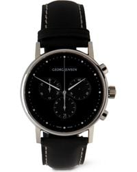 Georg Jensen Black Koppel Chronograph Watch for men