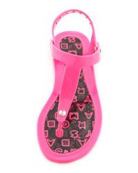 Marc By Marc Jacobs Pink Rubber Jelly Thong Sandals