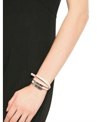 McQ | Natural Patent Leather Triple Wrap Bracelet | Lyst