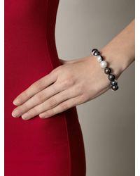 Melanie Georgacopoulos | Black Peacock White Pearl Bracelet | Lyst