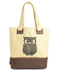ModCloth - Natural Owl Tote Your Things Bag - Lyst