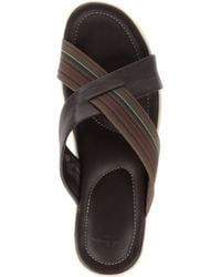 Paul Smith Brown Lalo Web Crossover Sandals for men