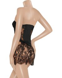 Rosamosario - Black Amacor Lace and Tulle Corset - Lyst