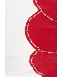 Saint Laurent - Red Bow-front Bandeau Bikini - Lyst