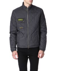 Barbour Gray Bowmore Quilted Jacket for men