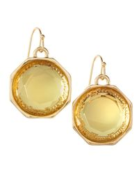 Fragments | Metallic Round Drop Earrings | Lyst