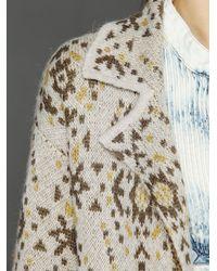 Free People Gray Patterned Sweater Blazer