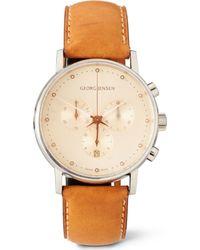 Georg Jensen Brown Koppel Chronograph Watch for men