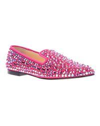 Giuseppe Zanotti Purple Embellished Crystal Stud Loafer