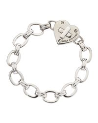 Juicy Couture | Metallic Turnlock Heart Starter Bracelet | Lyst
