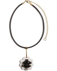 Marni - Black Lazer Flower Small Necklace - Lyst