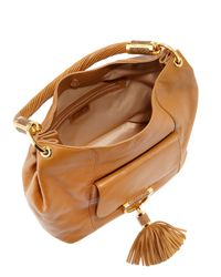 Michael Kors Brown Tassel Pocket Hobo Bag
