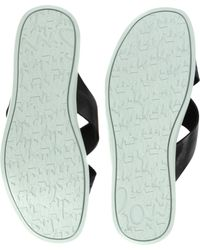 Paul Smith Black Lalo Leather and Canvas Sandals for men