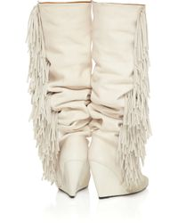 Isabel Marant White Manly Goat Leather Boots