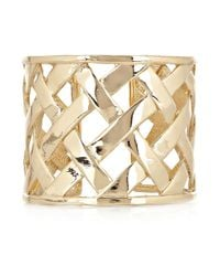 Kenneth Jay Lane | Metallic Woven Metal Cuff | Lyst