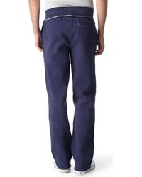 True Religion Blue Power Through Peace Jogging Bottoms for men