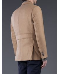Billy Reid Natural Double Breasted Blazer for men