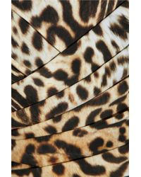 Clube Bossa - Multicolor King Feline Animalprint Draped Bandeau Swimsuit - Lyst