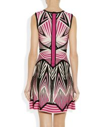 Hervé Léger Black Cutout Stretchknit Dress