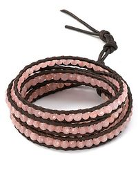 Chan Luu | Pink Five Leather Wrap Muted Clay Bracelet | Lyst