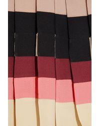 Chloé Multicolor Pleated Silk Crepe De Chine Top