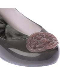 Melissa + Vivienne Westwood Anglomania Gray Ultragirl Rubber Pumps