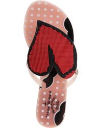 Melissa + Vivienne Westwood Anglomania Natural Harmonic Heart Flip Flops