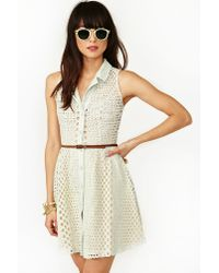 nasty gal bubbly lace dress in mint green  lyst