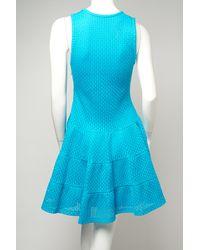 Thakoon Blue Knit Ruffle Dress