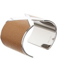 Valextra | Brown Leather X Cuff | Lyst