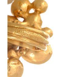 Saint Laurent Metallic Arty Goldplated Flower Ring