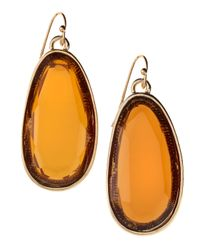 Fragments | Orange Oval Drop Earrings | Lyst