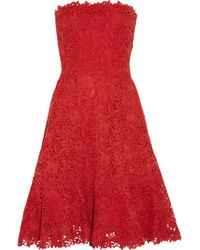 Valentino   Red Silk Cocoon Dress   Lyst