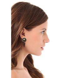 Vanessa Mooney - Metallic Flower Of Life Earrings - Lyst