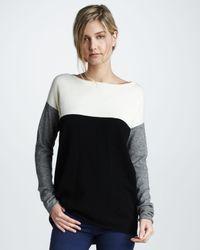 Vince Black Colorblock Sweater