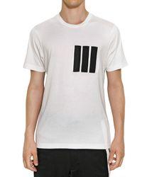 Y-3 White Cotton Jersey Pocket T-shirt for men