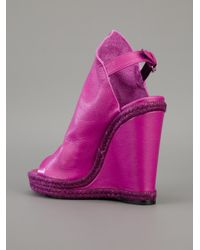 Balenciaga   Purple Wedge Boot   Lyst
