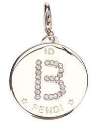 Fendi Metallic B Identity Charm