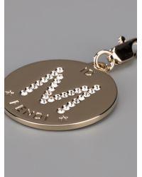 Fendi - Metallic M Identity Charm - Lyst