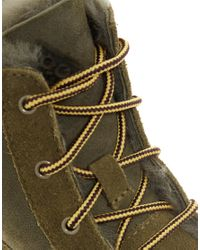 Nike Green Woodside Chakka Lace Up Duck Ankle Boots