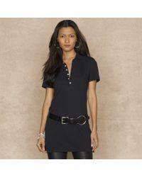 Ralph Lauren Blue Label - Black Long Placket Polo Tunic - Lyst