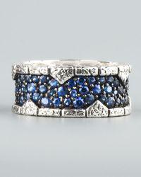 Stephen Webster - Blue Sapphire Band Ring for Men - Lyst