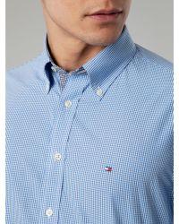 Tommy Hilfiger Blue Devan Check Shirt for men