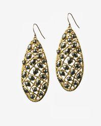 Alexis Bittar | Metallic Siyabona Gold Pyrite Woven Earrings | Lyst