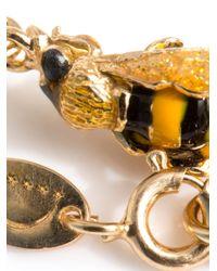 Delfina Delettrez - Metallic Enamel and Goldplated Bee Bracelet - Lyst