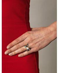Delfina Delettrez - Metallic Peridot and Silver Infinity Ring - Lyst